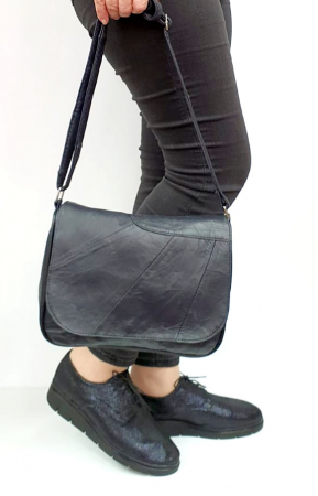 Pantofi Casual Piele Naturala Bleumarin Agathe D02730 [5]