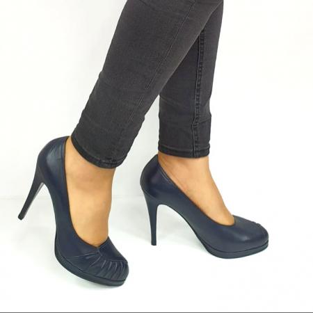 Pantofi cu toc Piele Naturala Bleumarin Guban Jesse D02735 [0]