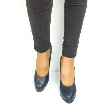 Pantofi cu toc Piele Naturala Bleumarin Guban Jesse D02735 [4]