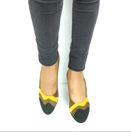 Pantofi cu toc Piele Naturala Negri Guban Edna D02737 [4]