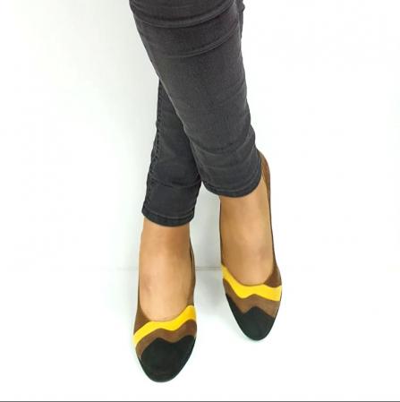 Pantofi cu toc Piele Naturala Negri Guban Edna D02737 [3]