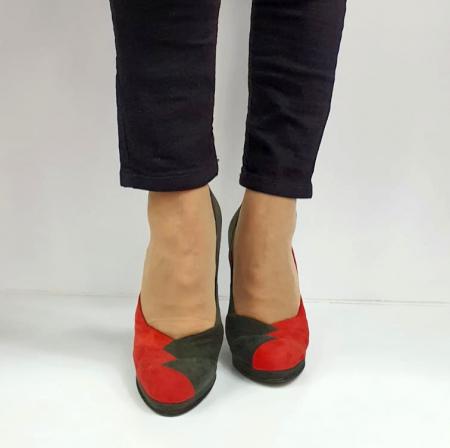 Pantofi cu toc Piele Naturala Rosi Guban Ermiona D02740 [4]