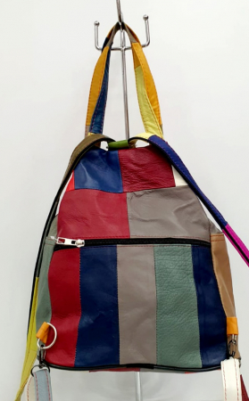 Rucsac Dama Piele Naturala Multicolor Clarisa G00904 [3]