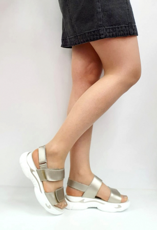 Sandale Dama Piele Naturala Aurii Ruth D02744 [4]