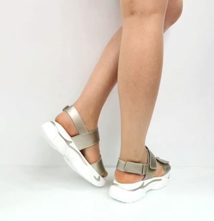 Sandale Dama Piele Naturala Aurii Ruth D02744 [2]