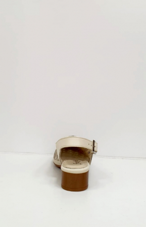 Sandale Dama Piele Naturala Prego Crem Rhoda D02745 [2]