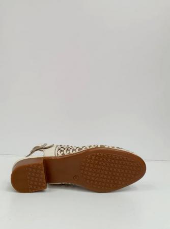 Sandale Dama Piele Naturala Prego Crem Rhoda D02745 [3]