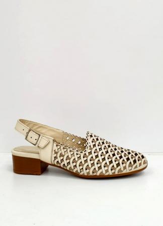 Sandale Dama Piele Naturala Prego Crem Rhoda D02745 [5]