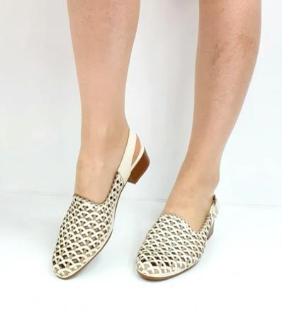 Sandale Dama Piele Naturala Prego Crem Rhoda D02745 [8]