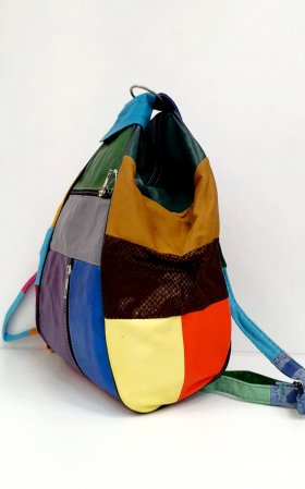 Rucsac Dama Piele Naturala Multicolor Seana G00920 [2]