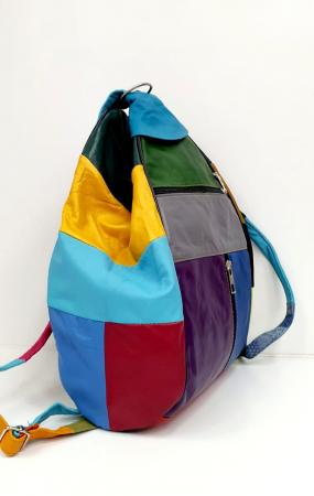 Rucsac Dama Piele Naturala Multicolor Seana G00920 [1]