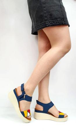Sandale Dama Piele Naturala Bleumarin Prego Barbara D02746 [0]