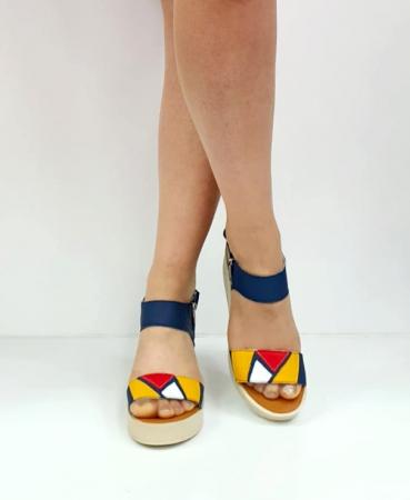 Sandale Dama Piele Naturala Bleumarin Prego Barbara D02746 [2]