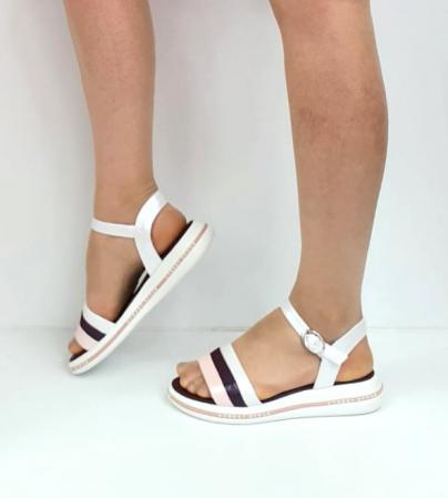 Sandale Dama Piele Naturala Alb Moda Prosper Benjamine D02748 [4]