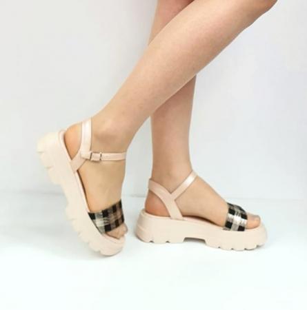 Sandale Dama Piele Naturala Roz Moda Prosper Berthe D02749 [0]