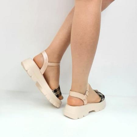 Sandale Dama Piele Naturala Roz Moda Prosper Berthe D02749 [3]