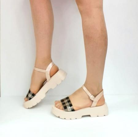 Sandale Dama Piele Naturala Roz Moda Prosper Berthe D02749 [4]