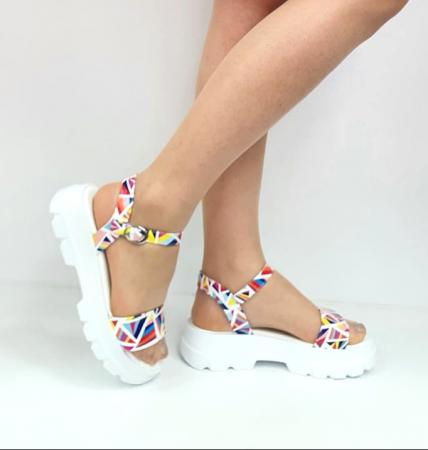 Sandale Dama Piele Naturala Alb Moda Prosper Berthe D02750 [0]