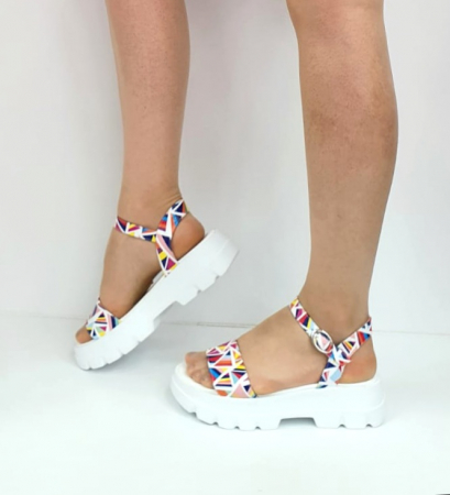 Sandale Dama Piele Naturala Alb Moda Prosper Berthe D02750 [4]