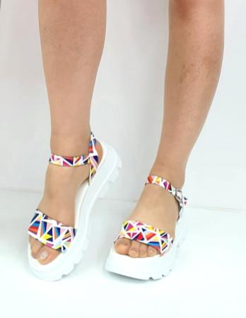 Sandale Dama Piele Naturala Alb Moda Prosper Berthe D02750 [1]