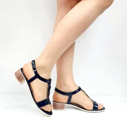 Sandale Dama Piele Naturala Bleumarin Prego Isabella D02751 [1]