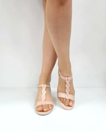 Sandale Dama Piele Naturala Nude Prego Isabella D02752 [3]