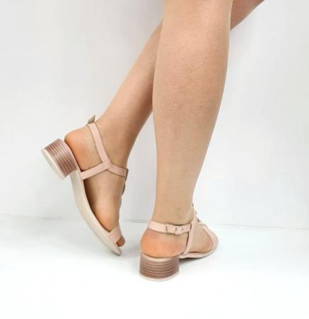 Sandale Dama Piele Naturala Nude Prego Isabella D02752 [5]