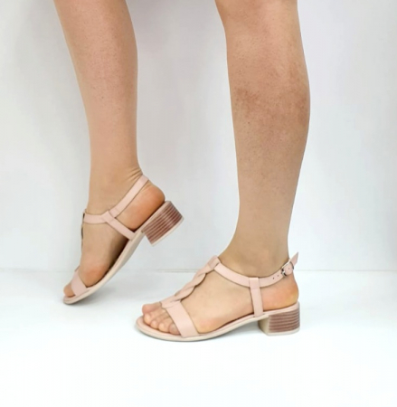 Sandale Dama Piele Naturala Nude Prego Isabella D02752 [2]