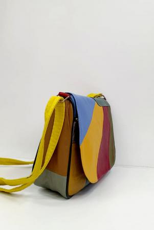 Geanta Dama Piele Naturala Multicolora Ada G00973 [2]