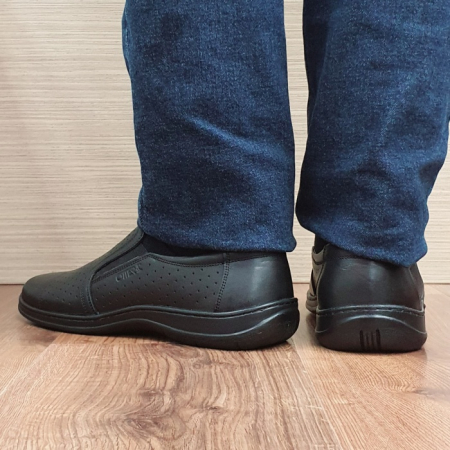 Pantofi Barbati Casual Piele Naturala Negri Otter Ilias B000692