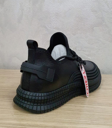 Pantofi Barbati Casual Piele Naturala Otter Negri Lucretiu B001015