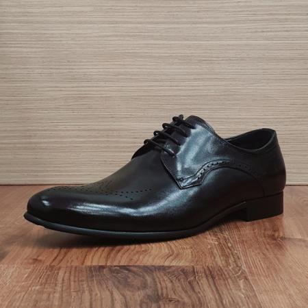 Pantofi Barbati Piele Naturala Negri Corneliu B000835