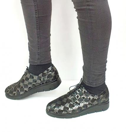 Pantofi Casual Piele Naturala Negri Dinah D02727 [1]