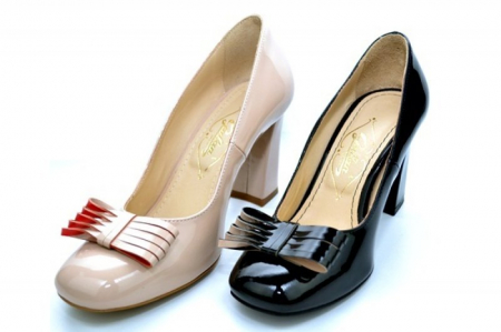 Pantofi cu toc Piele Naturala Negri Guban Amanda D011185