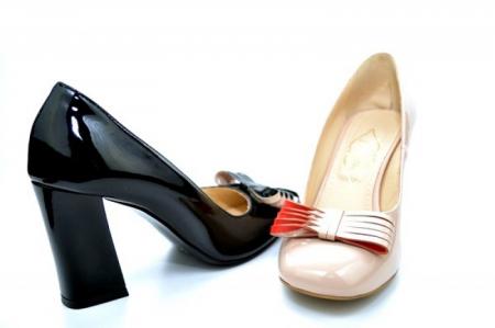 Pantofi cu toc Piele Naturala Negri Guban Amanda D011186