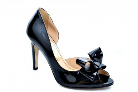 Pantofi cu toc Piele Naturala Negri Guban Ivanna D01081 [3]