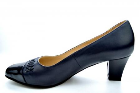Pantofi cu toc Piele Naturala Bleumarin Guban Miriam D011211