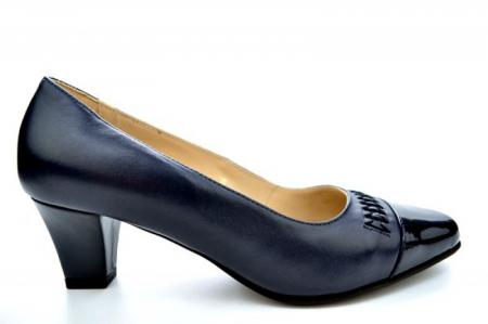 Pantofi cu toc Piele Naturala Bleumarin Guban Miriam D011210