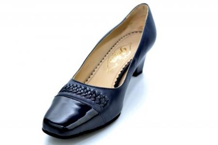 Pantofi cu toc Piele Naturala Bleumarin Guban Miriam D011213