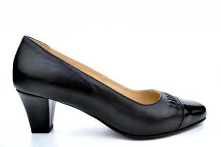 Pantofi cu toc Piele Naturala Negri Guban Miriam D011230