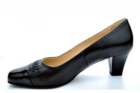 Pantofi cu toc Piele Naturala Negri Guban Miriam D011231