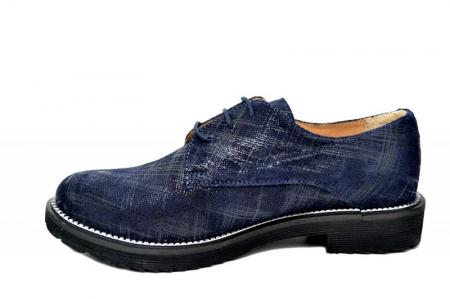 Pantofi Oxford Piele Naturala Bleumarin Orana D017421