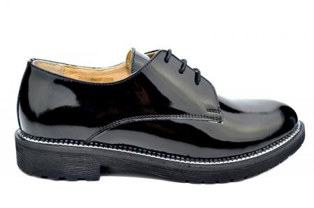 Pantofi Oxford Piele Naturala Negri Orana D017460