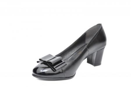 Pantofi cu toc Piele Naturala Negri Moda Prosper Abel D019122