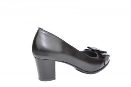 Pantofi cu toc Piele Naturala Negri Moda Prosper Abel D019123