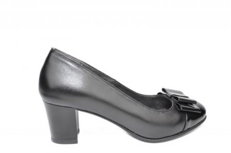 Pantofi cu toc Piele Naturala Negri Moda Prosper Abel D019120