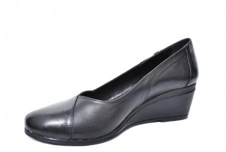 Pantofi Casual Piele Naturala Negri Abena D020851