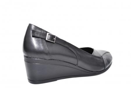 Pantofi Casual Piele Naturala Negri Abena D020852