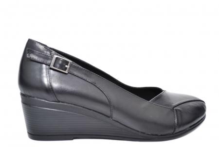 Pantofi Casual Piele Naturala Negri Abena D020853