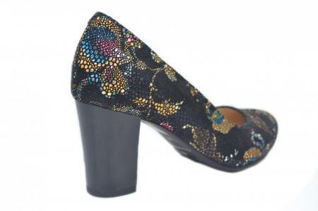 Pantofi cu toc Piele Naturala Bleumarin Corvaris Ada D016283